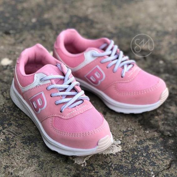 Tênis Batatinha Rosa B Slip On Infantil