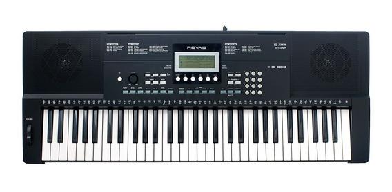 Teclado Musical Revas Kb330 C/ Nfe + Pedal Sustain