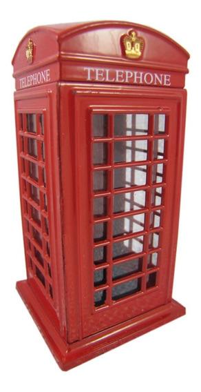Cofre Cabine Telefonica Londres Dinheiro Moeda Cofrinho