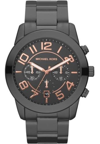 Relógio Michael Kors Mk8330 Mercer Orig Chron Anal Black