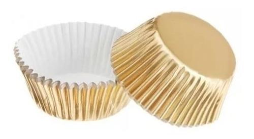 Capacillos Metalizados Dorados 1y1/2 Para Cupcake 60 Pzas