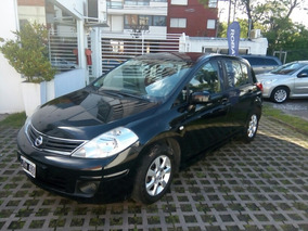 Nissan Tiida 1.8 Tekna 5 P 2011 Negro Buen Estado!!!(ged)