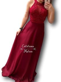 Vestido Madrinha Rose Marsala Modelo Princesa Decote Tule #2