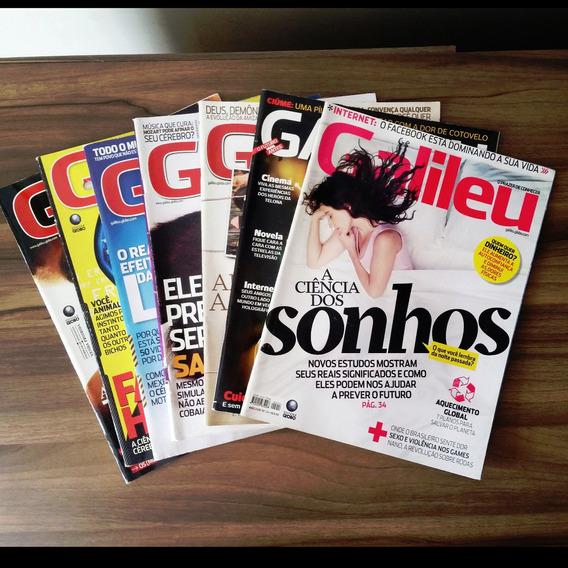 Kit 7 Revistas Galileu - Leia Descrição