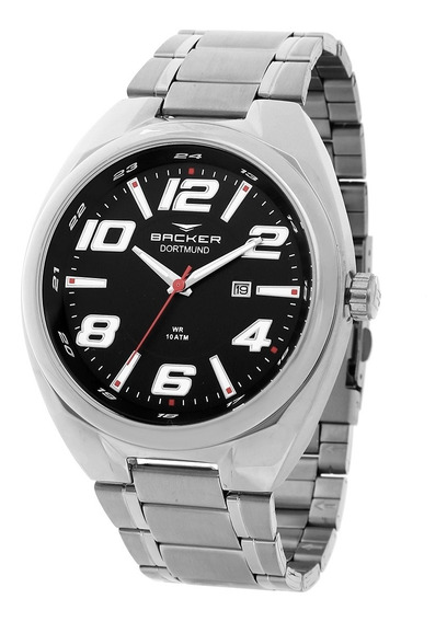 Relógio Masculino Backer Analógico 6491253m - Prata