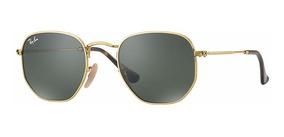 Ray Ban Rb3548n 001 Hexagonal Óculos De Sol Tam. 5,4 Cm