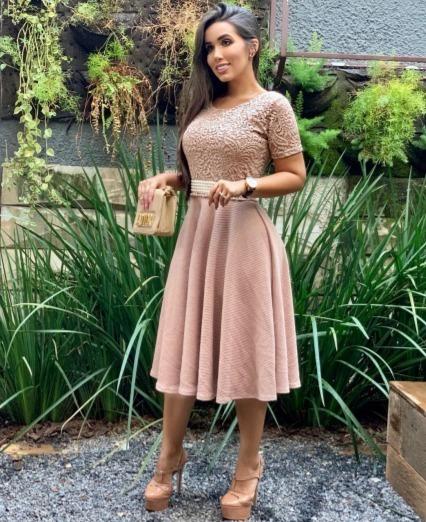 Vestido Feminino Moda Evangélica