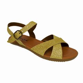 1ea4700a1 Sandalia Tratorada Verniz - Sandálias para Feminino Dourado escuro ...