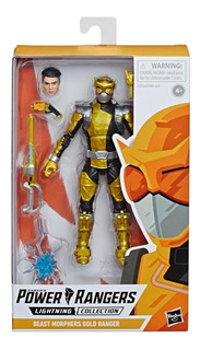 Power Rangers Gold Ranger Lighting Collection Beast Morphers