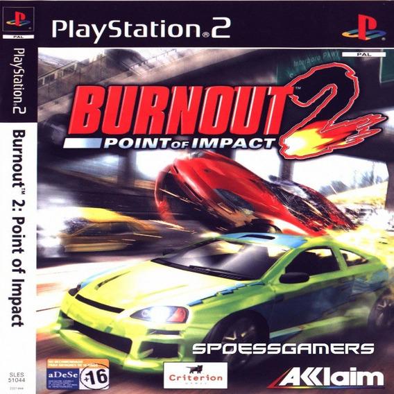 Burnout 2 Point Of Impact ( Carros ) Ps2 Desbloqueado Patch