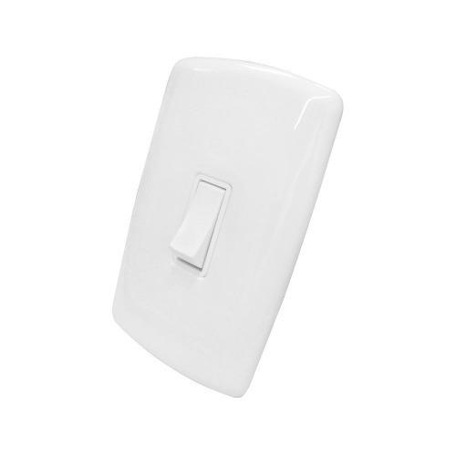 Imagem 1 de 3 de 1 Interruptor Simples Com Placa 4x2 (branco) - Mônaco Idm