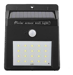 Lampara Energía Solar 20 Led Sensor Movimiento Exterior May.