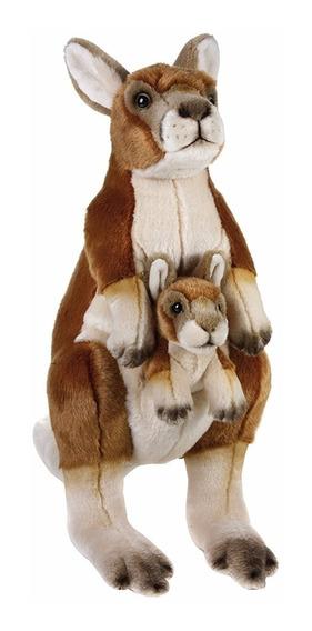 Pelúcia National Geographic Canguru Com Bebê 770762 40 Cm
