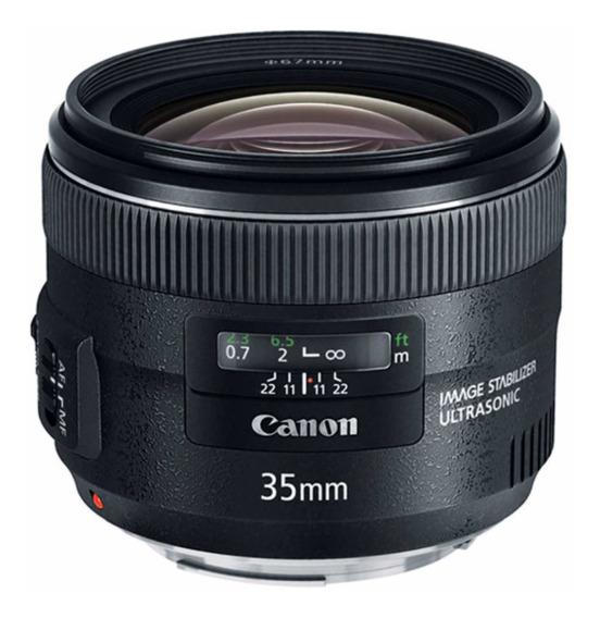 Lente Canon Ef 35mm F2 Is Usm Lacrada Na Caixa Com Nf