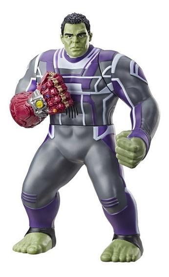 Boneco Hulk 35cm Marvel Premium Com Manopla Eletrônica E3313