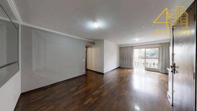 Brooklin - Apartamento Com Varanda 140m² 04 Dorms (1 Suíte) 02 Vagas Na Rua Guararapes Para Venda. - Ap2346