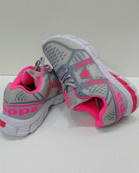 Tênis Kappa Fluid Gel Feminino Cinza/ Rosa , Esporte