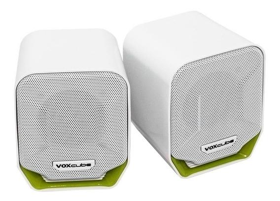 Caixa de som Voxcube VC-D360 portátil Branco/Verde
