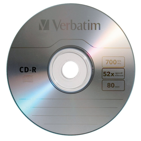 Cd Verbatim Cd-r Pack De 10.