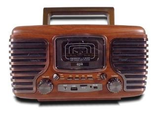 Parlante Vintage Speaker 15w Radio Usb 6cts