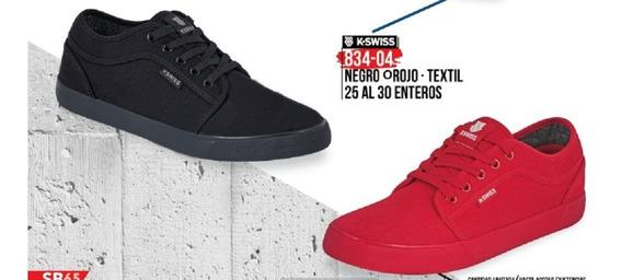 Tenis Kswiss Negro,rojo,azul,bco. 834-04 Cklass Sport 1-20 A