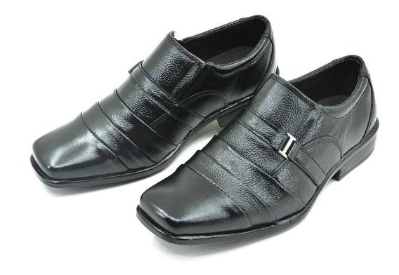 Sapato Social Em Couro . Sola Borracha