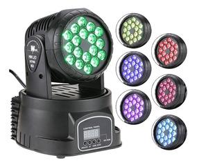 Mini Moving Led Wash Rgb 18x3w Iluminação Dj