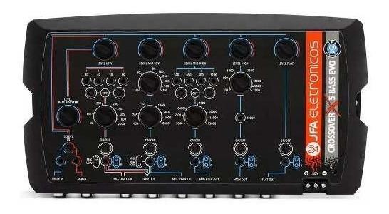 Crossover Jfa X5 Bass Evo Com 5 Vias Digital Eletrônico Mesa