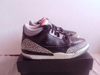 Air Jordan Retro 3 Black Cement 21 Cm