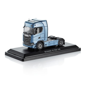 Caminhão Miniatura Scania S730 V8 4 X 2 Em Caixa Acrílica