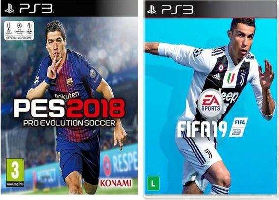 Fifa19 Mais O Pes 2018 Ps3 Envio Rápido Mídia Digital
