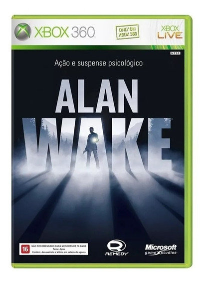 Alan Wake Xbox 360 E Xbox One Mídia Física Novo Lacrado