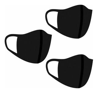 Kit 3 Máscaras Tecido Proteção Lavável Neoprene Envio Hoje!