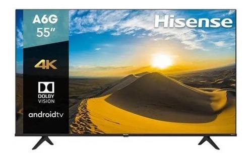 """Imagen 1 de 5 de Smart TV Hisense A6 Series 55A6G LED 4K 55"""" 120V"""