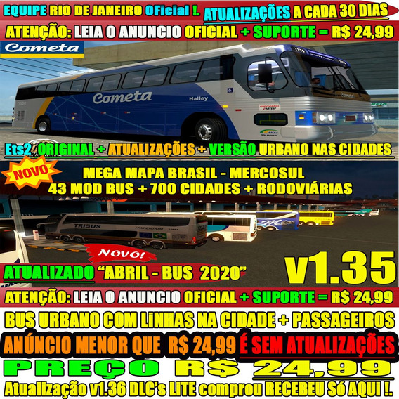 Jogo Euro Truck Simulator 2 Mod Bus Brasil 2019 Rodoviárias