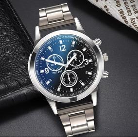 Relógio De Pulso Masculino Tachymeter Aço Inoxidável 50% Off