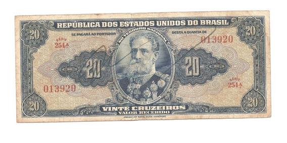 C021 - Cédula 20 Cruzeiros - Autografada - Carta Registrada