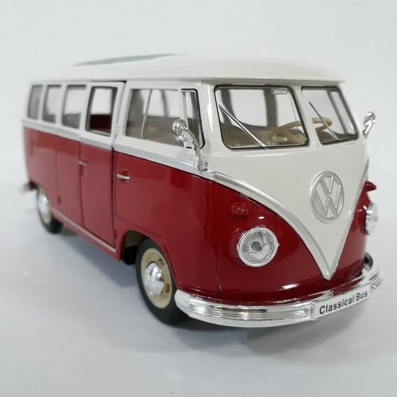 Kombi Classical Bus 1962 Escala 1/32 Cor Vermelho E Branco