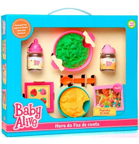 Baby Alive Hora Do Faz De Conta - Papinha Do Bebe - Elka