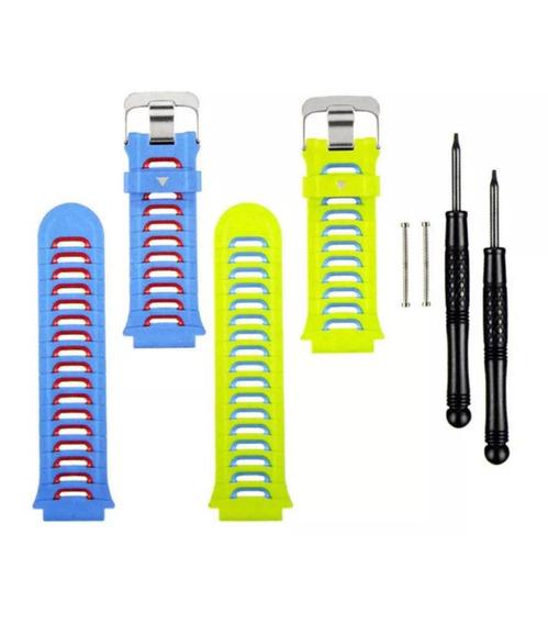 Kit Pulseira Garmin Forerunner 920xt Azul/verde Originais