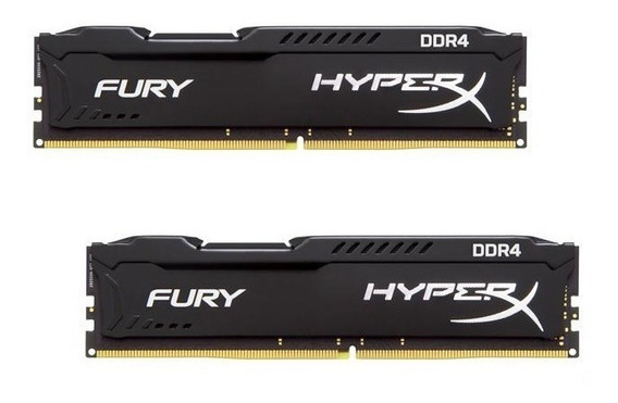 Memória 16gb ( 8gb X 2 ) Ddr4 2400mhz Kingston Hyperx Fury