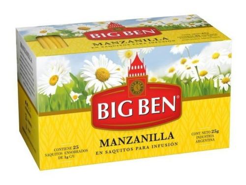 Imagen 1 de 5 de Te De Manzanilla Big Ben X 25 Saquitos