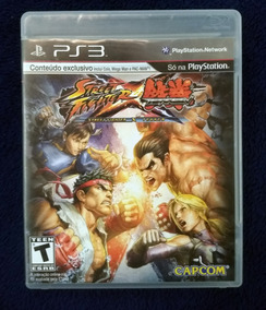 Street Fighter X Tekken Ps3 Midia Física Semi Novo