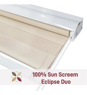 Cortina Roller Eclipse Sun Screen Duo Zebra 1,10x2,20 Mts