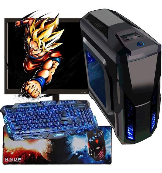 Pc Gamer Completo 500gb + Monitor + Kit Gamer / Jogos Atuais