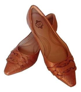 Sapato Bico Fino Com Salto Baixo Elegante Social Sapatilha