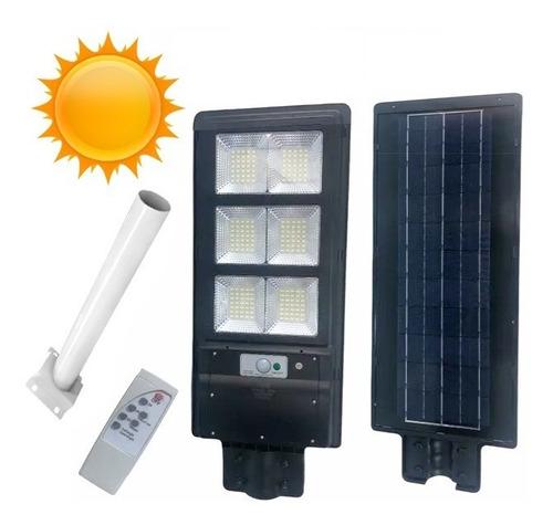 Foco Solar Led 180w Exterior C Sensor Y Control+ Brazo Metal