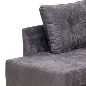 Tecido Suede Amassado Cinza Para Sofá Decoração - 4 Metros