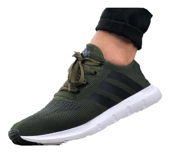 Tenis Botas Calzado Zapatos Caballero adidas Vinotinto Verde