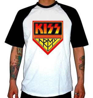 Remera Combinada Kiss Army